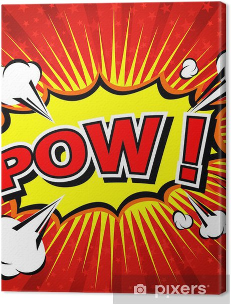 Pow! - Comic Speech Bubble, Cartoon Premium prints - Themes