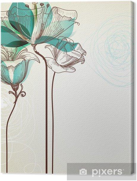 Retro floral background Premium prints - Styles