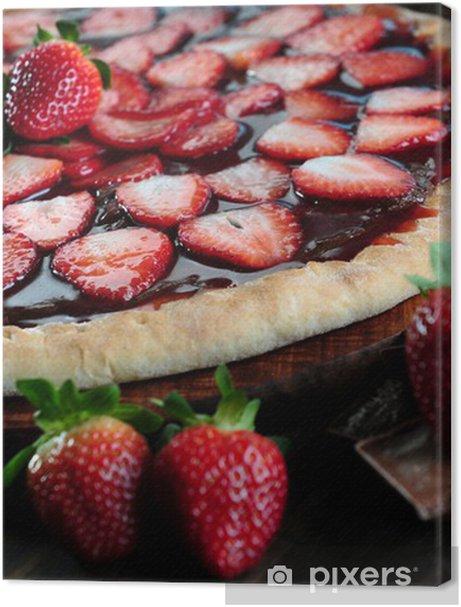 Strawberry and chocolate pizza Premium prints - Themes