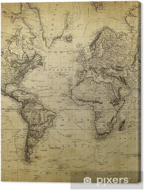 vintage map of the world 1814.. Premium prints - Themes