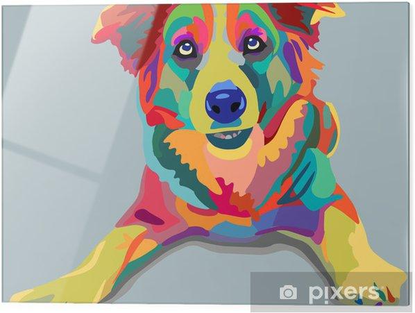 Print op glas Hond pop-art - Stijlen