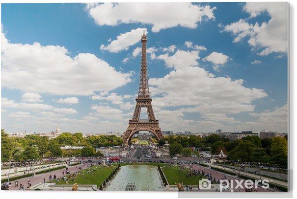 Pvc Bilde Eiffeltarnet Og Fontener Av Trocadero I Paris Frankrike Pixers Vi Lever For Forandring