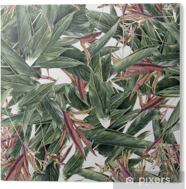 PVC Print Aquarel schilderen van bladeren en bloemen, naadloos patroon - Hobby's en Vrije tijd
