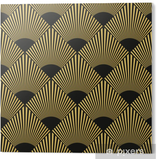 PVC Print Art deco naadloos patroon - Grafische Bronnen