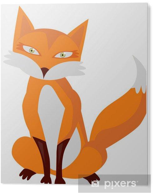 PVC Print Illustratie van zeer leuke cartoon vos -