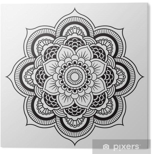 PVC Print Mandala. Rond Ornament Patroon - Muursticker