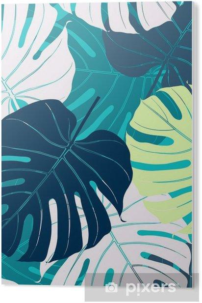 PVC Print Naadloos patroon met palmbladeren - Bloemen en Planten