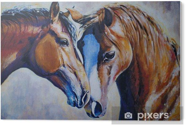 Two horses PVC Print - Animals