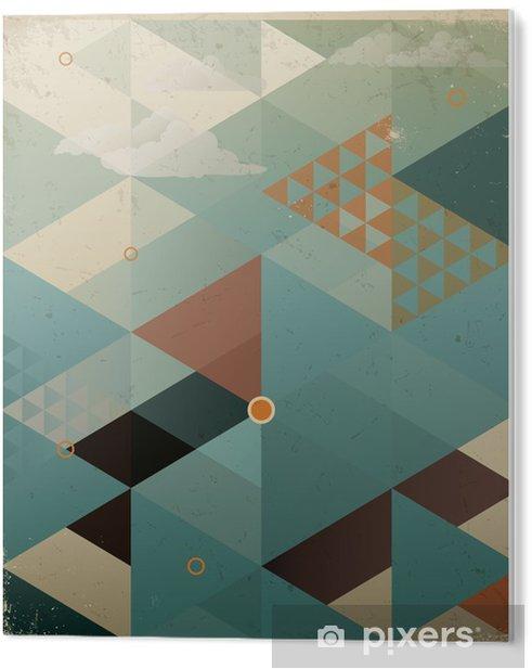 PVC Tavla Abstrakt Retro geometrisk bakgrund med moln -