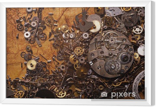 Quadro in Cornice I vecchi ingranaggi sulla carta ruvida - Stili
