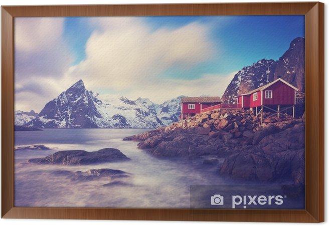 Quadro in Cornice Lofoten in inverno - Panorami
