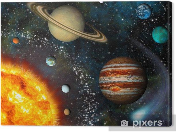 Quadro su Tela 3D Solar System - Universo