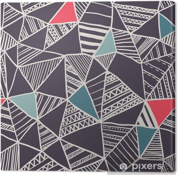 Quadro su Tela Abstract seamless pattern di doodle - Business