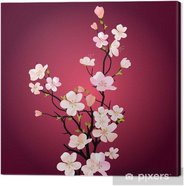 Quadro su Tela Albero in fiore - Meli
