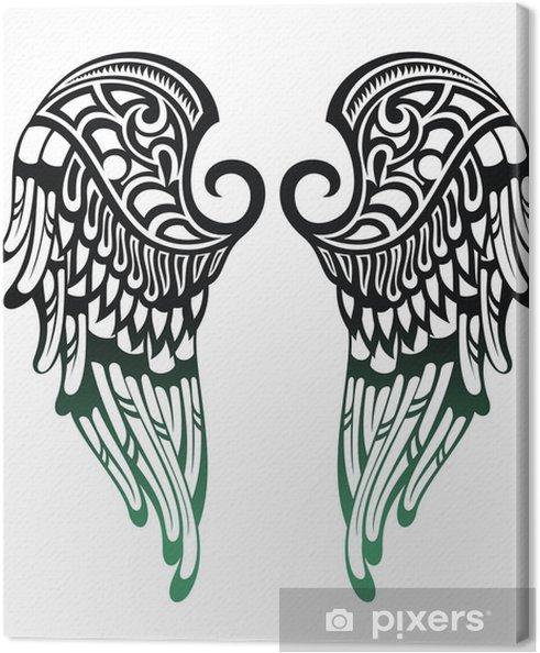 Quadro Su Tela Ali D Angelo Disegno Del Tatuaggio Pixers