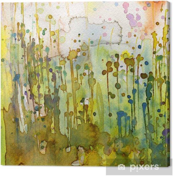 Quadro su Tela Artistico sfondo acquerello, - Stili