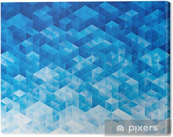 Quadro Su Tela Astratta Geometrica Blu Texture Di Sfondo Pixers