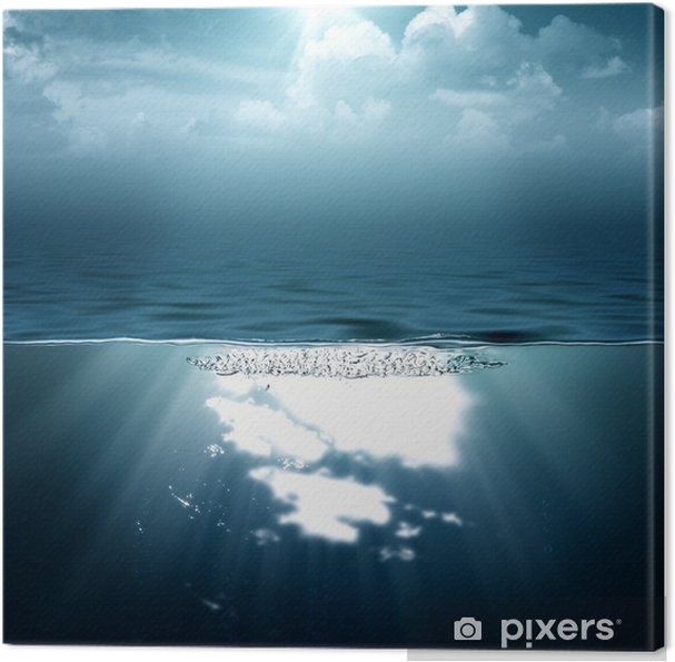 Quadro Su Tela Astratto Mare E Oceano Sfondi Per Il Vostro Disegno