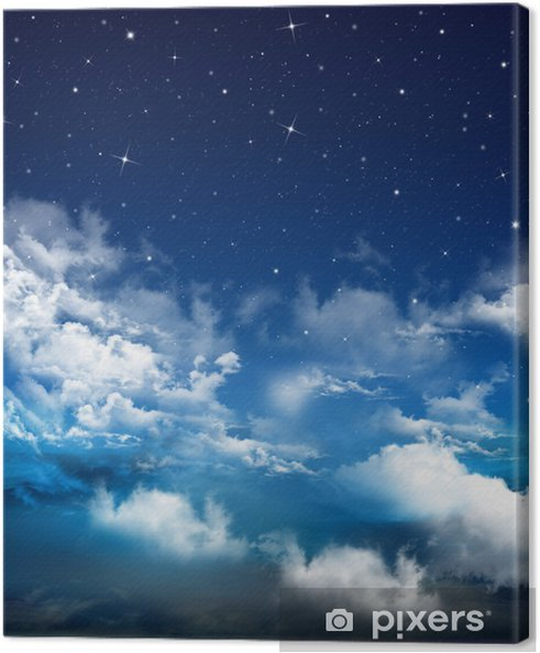 Quadro Su Tela Astratto Sfondo Blu Cielo Nightly Pixers