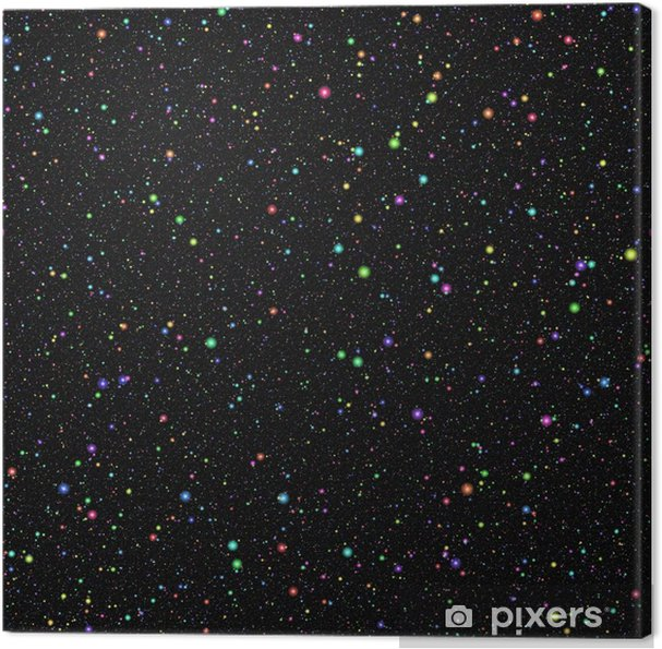 Cielo Stellato D Estate.Quadro Su Tela Astratto Universo Colorato Luminoso Stelle Colorate Arcobaleno Cielo Stellato Di Notte D Estate Spazio Esterno Lucido Multicolore