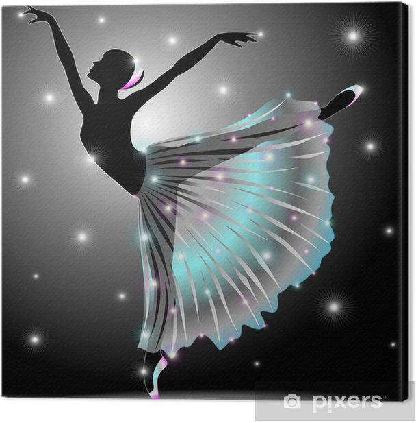 Quadro su Tela Ballerina Danza Classica-Classic Dance Star Dancer-Vector - Balletto