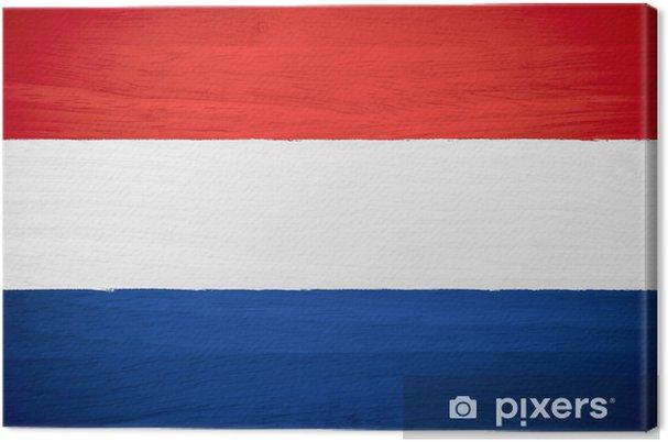 Quadro Su Tela Bandiera Olandese Su Struttura Di Legno Pixers