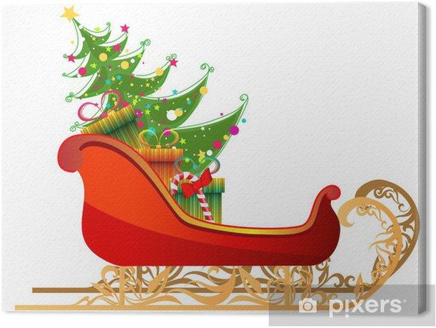 Regali Di Babbo Natale.Quadro Su Tela Bella Illustrazione Dettagliata Di Slitta Di Babbo Natale Con I Regali Di Pixers Viviamo Per Il Cambiamento