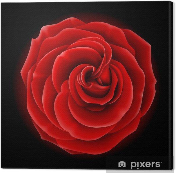 Quadro Su Tela Bella Rosa Rossa Simbolo Di Amore E Passione