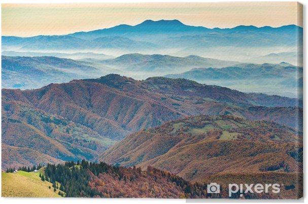 Quadro su Tela Belle montagne blu e colline - Panorami