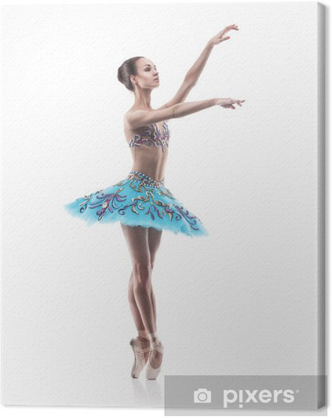 Quadro su Tela Bellissima ballerina balletto isolato - Balletto