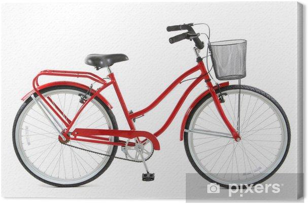 Quadro Su Tela Bicicletta Rossa Su Sfondo Bianco