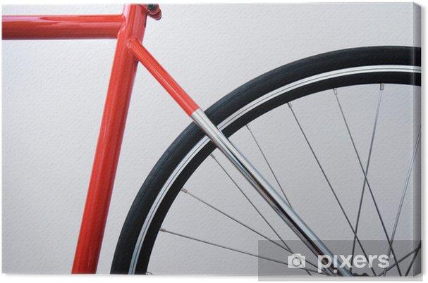 Quadro Su Tela Bicicletta Rossa Su Whitebackground