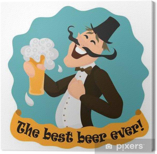 Quadro Su Tela Buon Inglese Con Un Bicchiere Di Birra Gustosa La