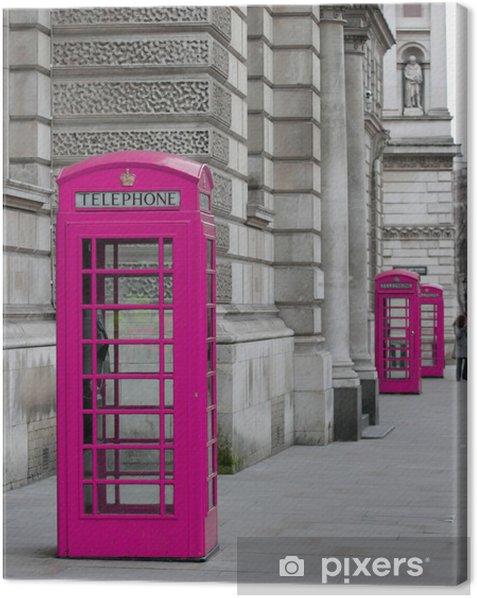 Quadro su Tela Cabine téléphoniques à Londres - Temi