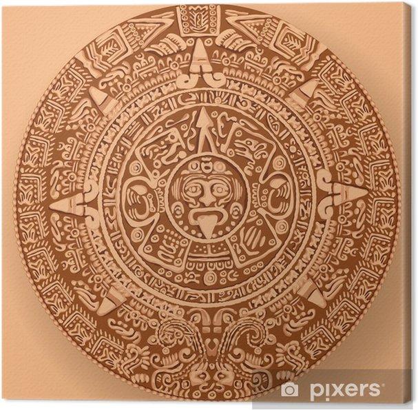 Il Calendario Maya.Quadro Su Tela Calendario Maya