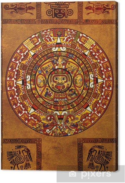 Calendario Dei Maya.Quadro Su Tela Calendario Maya
