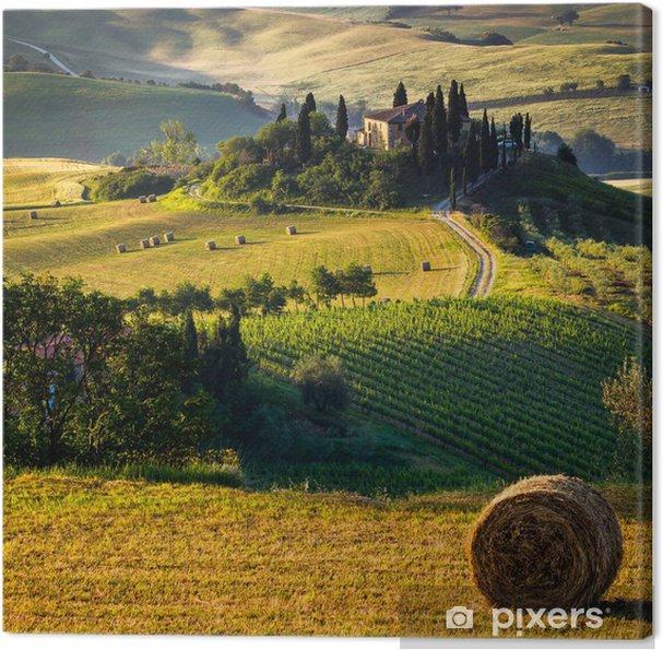 Quadro su Tela Campagna toscana, paesaggio italiano • Pixers ...