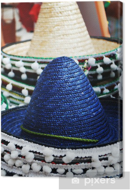 Quadro su Tela Cappelli messicani • Pixers® - Viviamo per il cambiamento 1406f3fe18ab