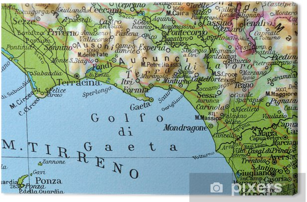 Cartina Fisica Italia Golfi.Quadro Su Tela Cartina Geografica Del Lazio Golfo Di Gaeta Pixers Viviamo Per Il Cambiamento