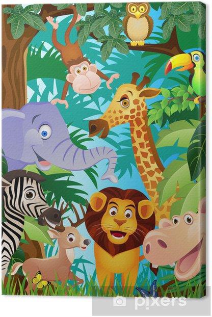 Quadro su Tela Cartone animato animale - Per asilo