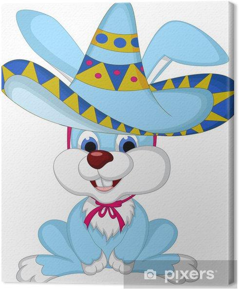 Quadro su tela cartone animato divertente del coniglio in posa con