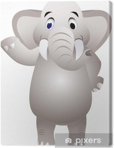 Quadro su tela cartone animato elefante con agitando la mano