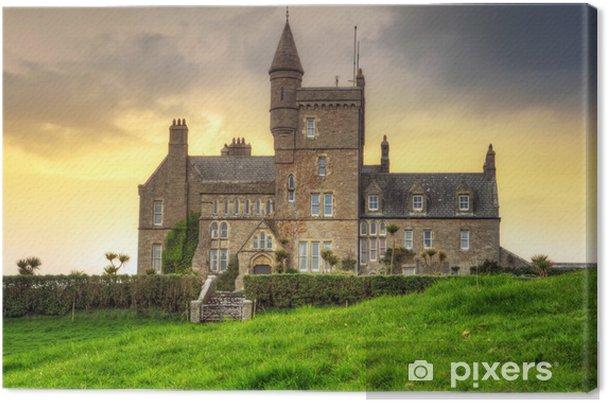 51d10f393a Quadro su Tela Castello Classiebawn al tramonto in Co. Sligo, Irlanda - Temi
