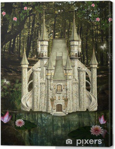 56f653edf8 Quadro su Tela Castello incantato nel mezzo della foresta • Pixers ...