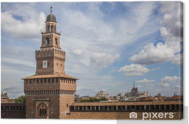 Quadro su Tela Castello sforzesco - milano - Europa