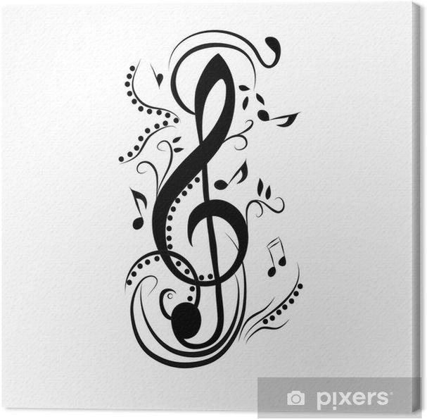 Quadro Su Tela Chiave Di Violino Astratta Pixers Viviamo Per Il