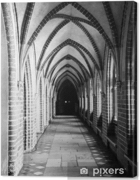 Quadro su Tela Chiostro con costola gotica soffitto a volta - Edilizia e Architettura