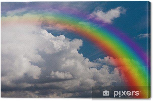 Quadro su Tela Cielo, nuvole e arcobaleno. - Arcobaleni
