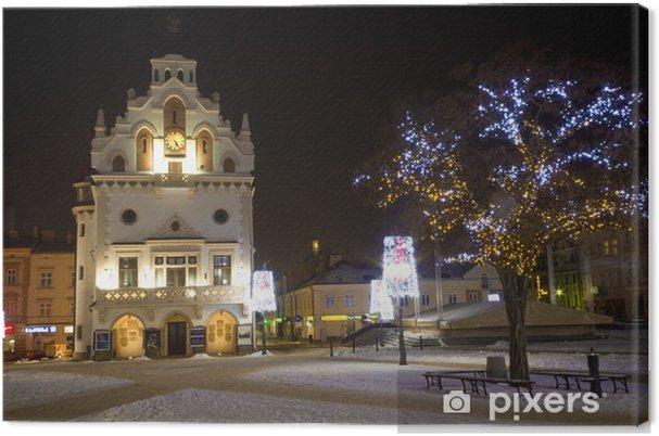 Quadro su tela città natale decorato da illuminazione rzeszow