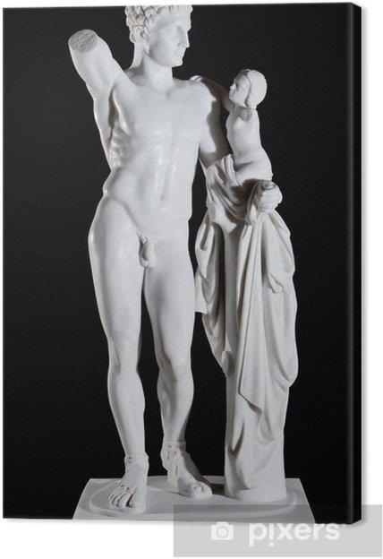 Quadro su Tela Classic marmo bianco statua di Hermes e il Bambino Dioniso - Edifici pubblici